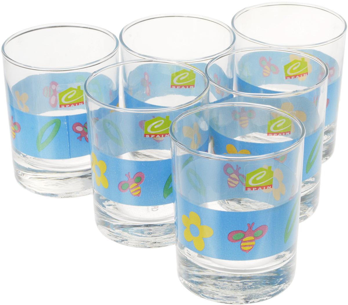 Набор стаканов Calve, цвет: синий 280 мл, 6 шт набор одноразовых стаканов buffet biсolor цвет оранжевый желтый 200 мл 6 шт