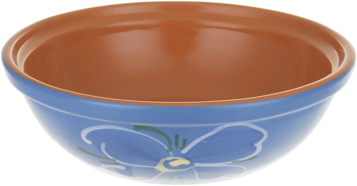 Салатник Борисовская керамика Модерн, цвет: коричневый, голубой, 500 мл. ОБЧ00000915