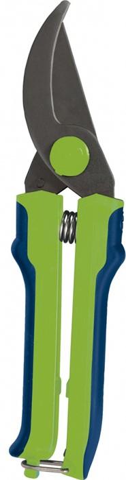 """Секатор """"Сибртех"""" спрямым резом, двухкомпонентными рукоятками ипетлевым фиксатором, расположенным на конце одной из рукояток предназначен для выполнения работ по уходу за садом.  Рекомендуется для обрезки живых веток диаметром до 15 мм.  Секатор изготовлен из стали 40Х иимеет оксидированное покрытие для защиты от коррозии.  Режущее лезвие остро заточено."""