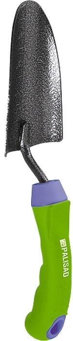 """Совок посадочный """"Palisad"""" с эргономичной обрезиненной рукояткой предназначен для высадки и пересадки рассады или цветов на небольших грядках или клумбах.  Рабочая часть выполнена из инструментальной стали У8 и окрашена молотковой эмалью для предохранения от коррозии.  Двухкомпонентная рукоятка эргономичной формы позволяет работать максимально комфортно.   По окончании работы необходимо очистить рабочую часть совка."""