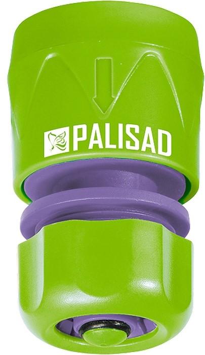 Соединитель садовый Palisad, пластмассовый, быстросъемный, для шланга 1/2, аквастоп соединитель palisad luxe 66266