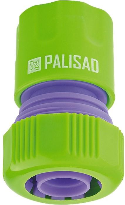 Соединитель садовый Palisad, пластмассовый, быстросъемный, для шланга 3/4 адаптер соединитель palisad 65755