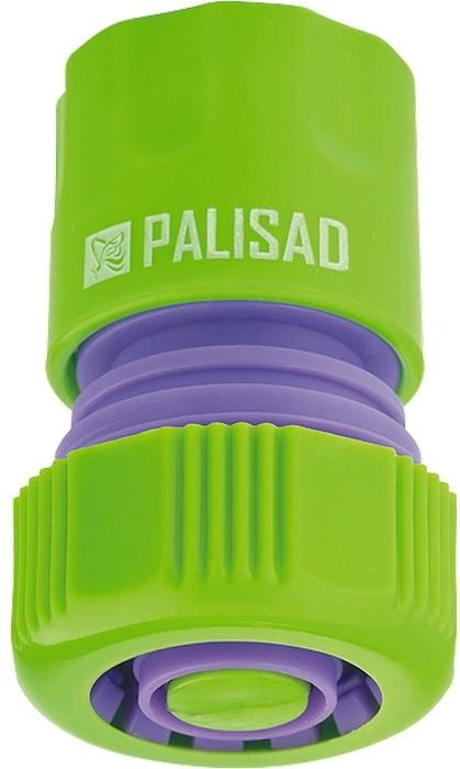 Соединитель садовый Palisad, пластмассовый, быстросъемный, для шланга 3/4, аквастоп адаптер соединитель palisad 65755