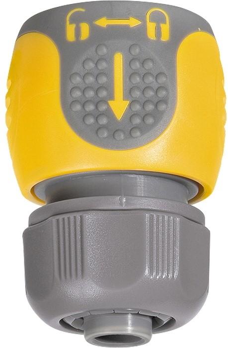 Соединитель для шланга Palisad, 1/2 двухкомпонентный66243Применяется для соединения шланга 1/2 с насадкой. Материал — АБС-пластик со вставками из резины.