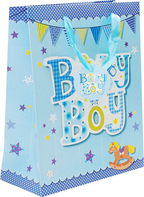Пакет подарочный Perfect Craft Нашему мальчику, 26 х 32 х 12 см1062-SBОригинальныйподарочный пакетстанет прекрасным дополнением для вашего подарка. Пакет выполнен из качественной плотной бумаги с хорошей печатью, объемные элементы на пакете придают дополнительный яркий акцент.