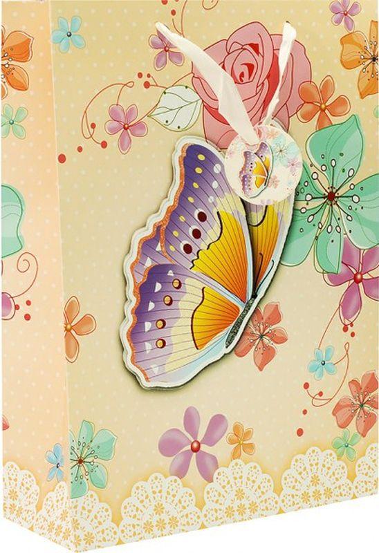 Пакет подарочный Perfect Craft Бабочка в цветах , 30 х 42 х 12 см пакет подарочный правила успеха щелкунчик 30 х 38 см