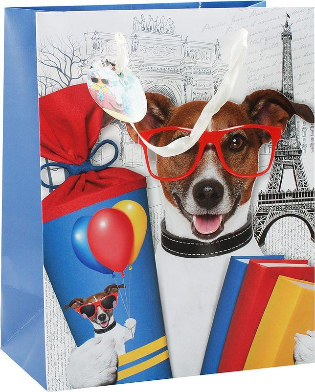 Пакет подарочный Perfect Craft Собачьи истории, 26 х 32 х 10 см собачьи истории