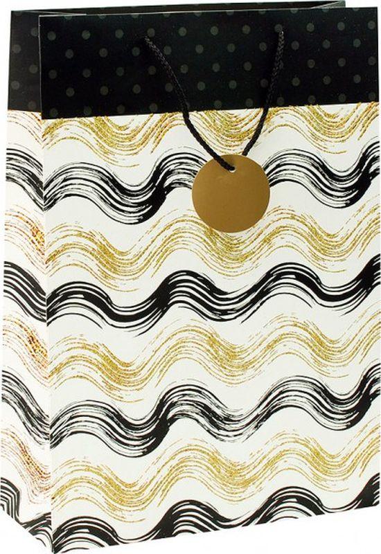 Пакет подарочный Perfect Craft Золотистые волны, 30 х 42 х 12 см пакет подарочный love you forever крафт 30 х 40 х 12 5 см синий