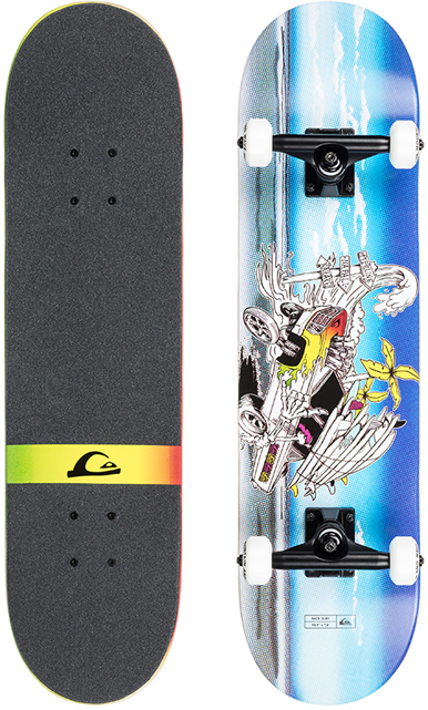 Скейтборд Quiksilver Race Surf S18. EGLRACESUF-BZA0 quiksilver скейтборд quiksilver sunset tunnels multicolor
