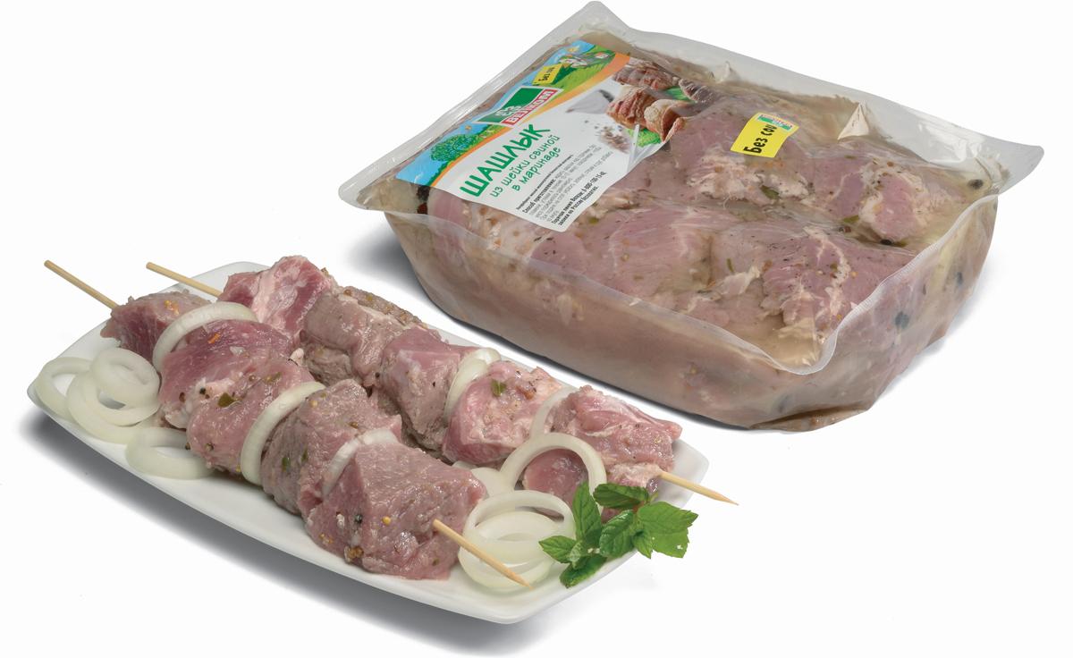 Велком Шашлык из свиной шейки, вакуумная упаковка, 2 кг головка торцевая 6 ти гранная 30 мм 1 2 76 мм hans 4300m30