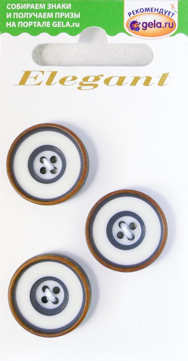 Zakazat.ru: Пуговицы Disboton Elegant, цвет: белый, синий, 3 шт. 14985-20-00008/3