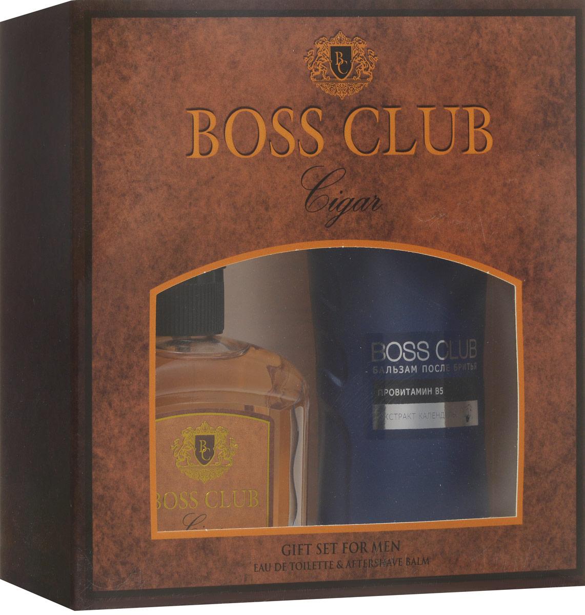 Boss ClubПарфюмированный набор:  Cigar Туалетная вода, 100 мл + Бальзам после бритья, 150 мл Boss Club