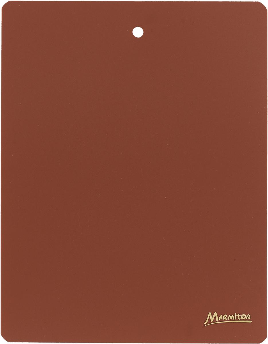 Доска разделочная Marmiton, гибкая, цвет: коричневый, 28 х 22 см доска разделочная bravo с силиконовой вставкой цвет коричневый бежевый 33 х 24 х 1 2 см