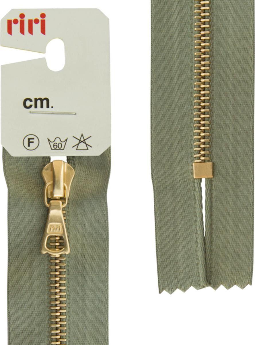 Zakazat.ru: Застежка-молния Riri Gold, неразъемная, на атласной тесьме, цвет: серо-зеленый (5884), ширина 4 мм, длина 18 см