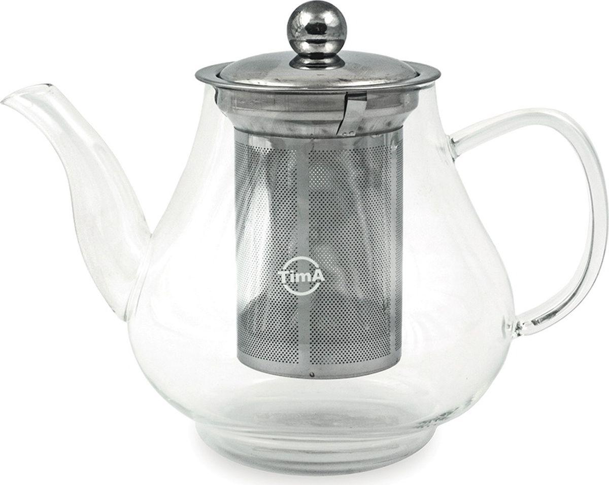 """Чайник заварочный TimA """"Каркаде"""" выполнен в классическом стиле. Корпус чайника изготовлен из боросиликатного стекла. Длинный носик позволяет быстро и без усилий разлить чай в чашки. Специальная форма носика не дает образовываться нежелательным каплям. Фильтр чайника изготовлен из высококачественной нержавеющей стали AISI 304. В отличие от стеклянных фильтров, он задерживает даже мелкий мусор и пыль, которые неизбежно присутствуют в любом чае, легко моется."""