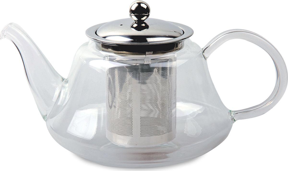 Чайник заварочный TimA Мелисса, с фильтром, 800 млQXA205-08Чайник заварочный TimA Мелисса выполнен в классическом стиле. Корпус чайника изготовлен из боросиликатного стекла. Длинный носик позволяет быстро и без усилий разлить чай в чашки. Специальная форма носика не дает образовываться нежелательным каплям. Фильтр чайника изготовлен из высококачественной нержавеющей стали AISI 304. В отличие от стеклянных фильтров, он задерживает даже мелкий мусор и пыль, которые неизбежно присутствуют в любом чае, легко моется.