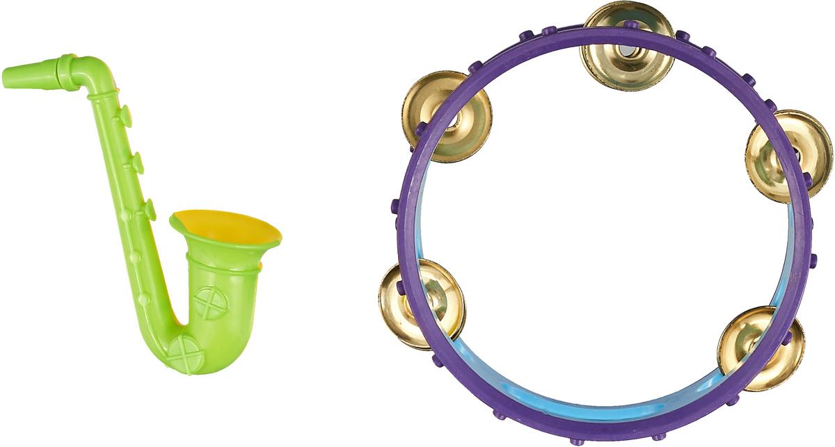 Best'ценник Набор музыкальных инструментов Труба бубен, цвет голубой фиолетовый салатовый