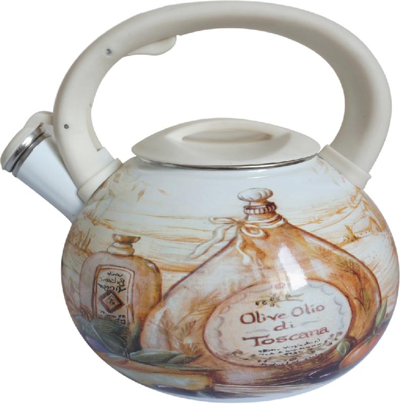 """Чайник """"Mercury"""" со свистком изготовлен из высококачественной углеродистой стали. Он имеет трехслойное эмалированное покрытие. Эмаль не впитывает запахи пищи, не требует особого ухода и легко моется.  Чайник оснащен эргономичной ручкой из бакелита.  Подходит для всех типов плит, включая индукцию."""