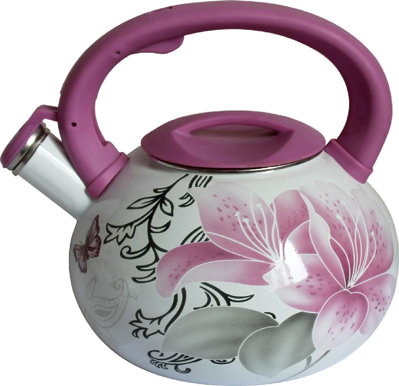 """Чайник """"Mercury"""" изготовлен из высококачественной углеродистой стали. Он имеет трехслойное эмалированное покрытие. Эмаль не впитывает запахи пищи, не требует особого ухода и легко моется.  Чайник оснащен эргономичной ручкой из бакелита.  Подходит для всех типов плит, включая индукцию."""