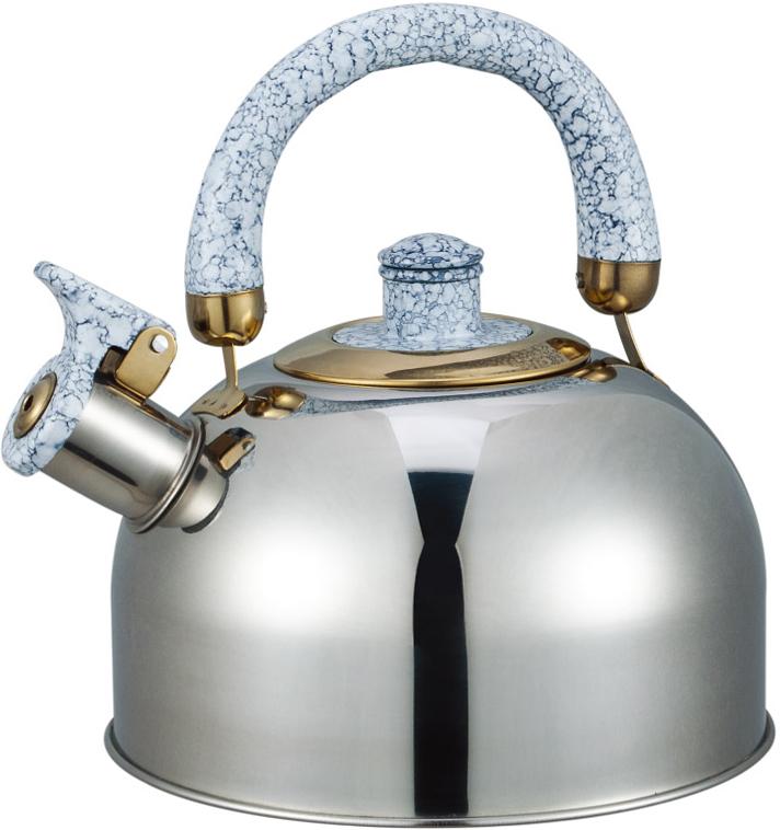 """Чайник """"Bayerhoff"""" со свистком изготовлен из высококачественной нержавеющей стали. Эргономичная ручка не нагревается и не скользит. Чайник имеет оригинальный современный дизайн. Подходит для всех типов плит, включая индукцию."""