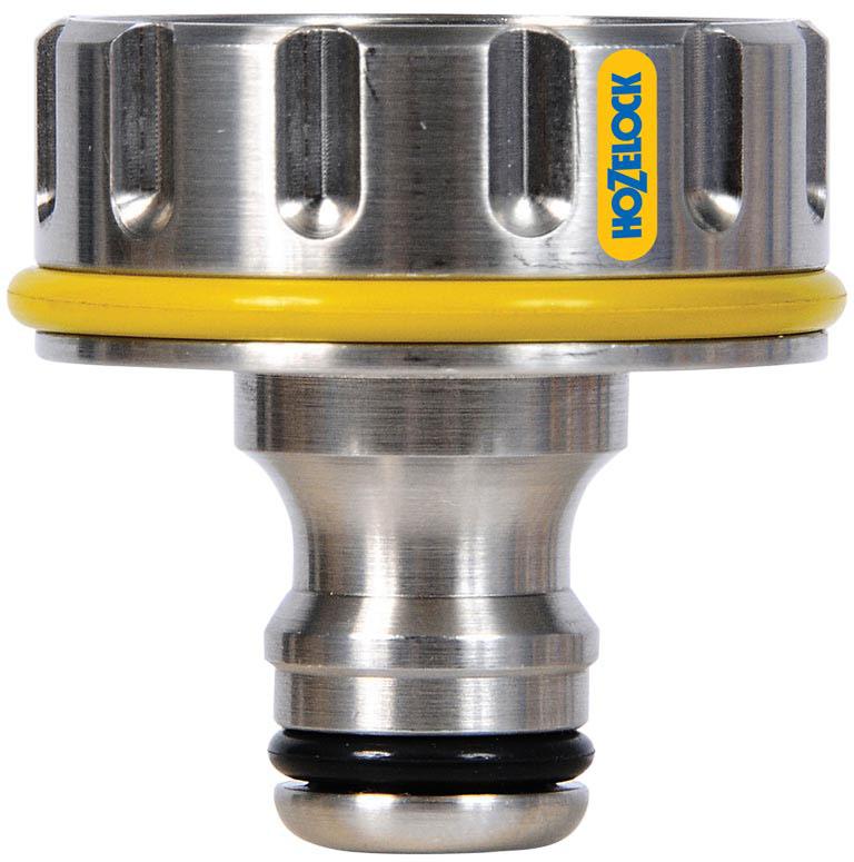 Коннектор HoZelock 2042 для крана вне помещений Pro (25 мм)  Предназначен для подсоединения шланга HoZelock, имеющего систему быстрого соединения, к внешнему резьбовому крану, расположенному на Вашем участке. Изготовлен из латуни с никелированным покрытием-высокопрочный, надежный, стойкий к механическим повреждениям и воздействию низких температур! Подходит для использования с большинством внешних кранов диаметром 25мм.