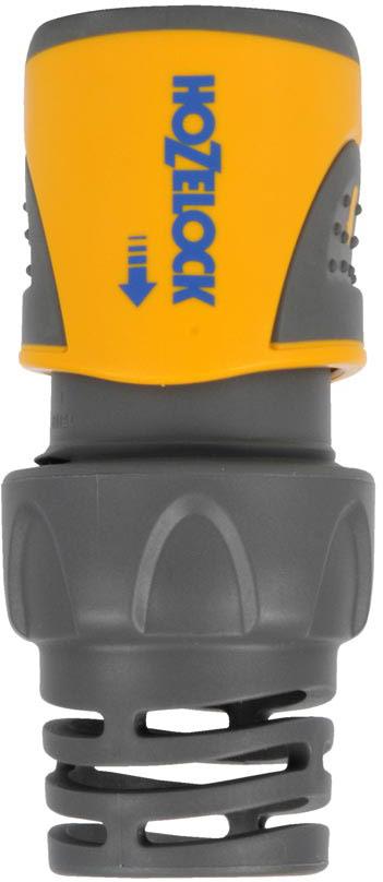 """Коннектор HoZelock 2060 для концов шлангов Plus (15 мм и 19 мм) Подходит для использования со всеми шлангами диаметром 15 мм (5/8"""") и 19 мм (3/4""""). Система тройной фиксации гарантирует надежность соединения, которая сохраняется при давлении до 10 бар.  Коннектор легко использовать, даже если он влажный, этому способствуют две мягкие нескользящие накладки. Плотно сцепляется со шлангом благодаря зубчикам, зажимающим внутреннюю и наружную стороны шланга. Перегибы шланга, повреждения и утечки в точке соединения с фитингом практически исключены, благодаря оригинальному гибкому хвостовику. Все внутренние детали выполнены из сверхпрочных технических пластмасс, обеспечивающих длительный срок службы с сохранением герметичности. Внутренний корпус изготовлен из сверхпрочного, запатентованного термопластика Dupont Delrin® Acetal, который обладает промежуточными свойствами между пластиком и металлом. Одна часть Коннектора с зубчиками изготовлена из термопластика Dupont Delrin® Acetal с добавлением силикона, чтобы Вы могли присоединить Коннектор к шлангу без усилий, другая часть, зажимающая шланг, изготовлена из гибкого полипропилена-гибкие зубчики устойчивы к постоянному напряжению и не допускают повреждения конца шланга. Внешний корпус выполнен из АБС-пластика, одновременно прочный и максимально комфортный для рук."""