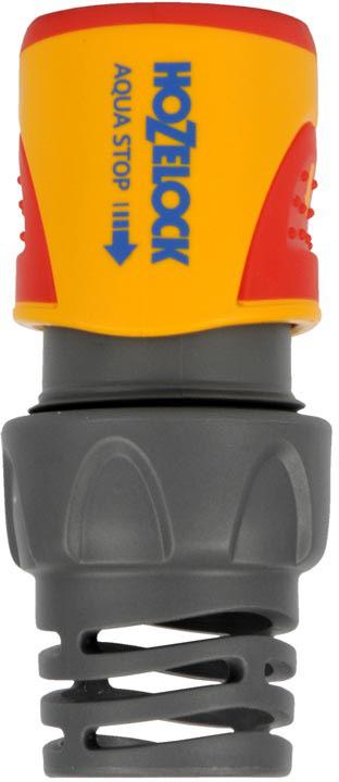 """Коннектор HoZelock 2065 aquastop Plus (15 мм + 19 мм) Подходит для использования со всеми шлангами диаметром 15 мм (5/8"""") и 19 мм (3/4"""").  • Предусмотрен внутренний клапан для блокировки подачи воды в момент отсоединения Внутрненний клапан прекращает подачу воды если аксессуар (например, пистолет-распылитель) отсоединить от шланга. Это избавляет Вас от необходимости ходить к крану, чтобы выключить воду, когда Вы производите смену насадок. Таким образом снижается расход воды на Вашем участке. Система тройной фиксации гарантирует надежность соединения, которая сохраняется при давлении до 10 бар. Коннектор легко использовать, даже если он влажный, этому способствуют две мягкие нескользящие накладки. Плотно сцепляется со шлангом благодаря зубчикам, зажимающим внутреннюю и наружную стороны шланга. Перегибы шланга, повреждения и утечки в точке соединения с фитингом практически исключены, благодаря оригинальному гибкому хвостовику. Все внутренние детали выполнены из сверхпрочных технических пластмасс, обеспечивающих длительный срок службы с сохранением герметичности. Внутренний корпус изготовлен из сверхпрочного, запатентованного термопластика Dupont Delrin® Acetal, который обладает промежуточными свойствами между пластиком и металлом. Одна часть Коннектора с зубчиками изготовлена из термопластика Dupont Delrin® Acetal с добавлением силикона, чтобы Вы могли присоединить Коннектор к шлангу без усилий, другая часть, зажимающая шланг, изготовлена из гибкого полипропилена-гибкие зубчики устойчивы к постоянному напряжению и не допускают повреждения конца шланга. Внешний корпус выполнен из АБС-пластика, одновременно прочный и максимально комфортный для рук."""