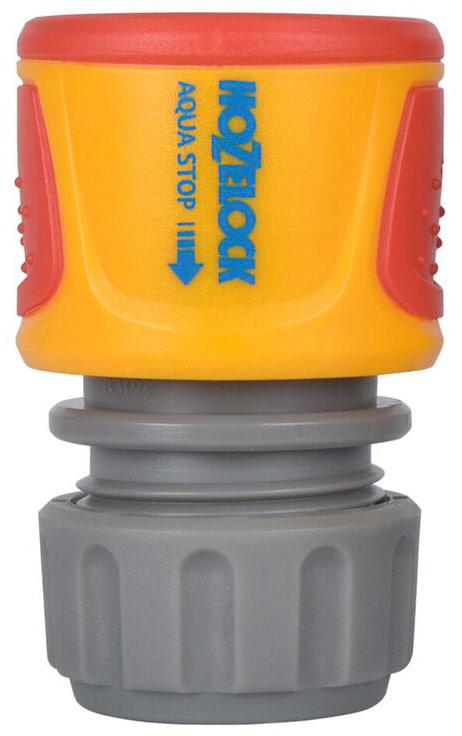 Коннектор HoZelock Classic AquaStop, для концов шлангов, 12,5 мм и 15 мм коннектор для шланга truper латунный папа 1 2