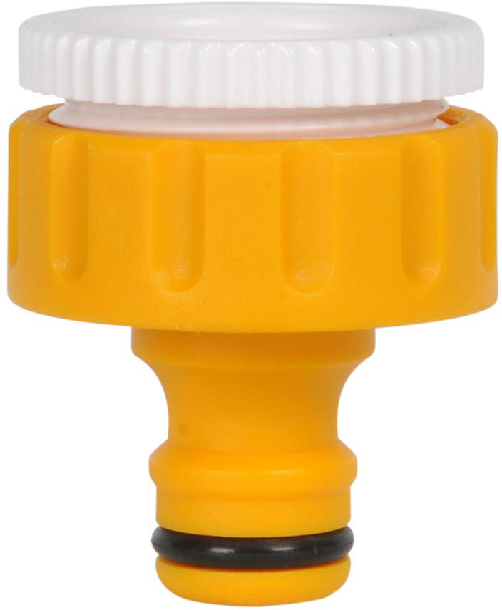 """Коннектор HoZelock 2158 для крана вне помещений 1"""" (25 мм)  Предназначен для подсоединения шланга HoZelock к внешнему резьбовому крану, расположенному на Вашем участке.  Подходит для присоединения к внешнему крану диаметром 25 мм. Изготовлен из высококачественного пластика для максимальной прочности."""