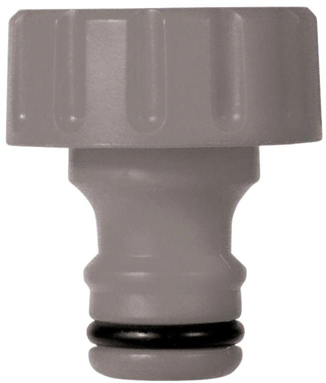 Коннектор-адаптор HoZelock 2169.  Предназначен для подключения катушки к шлангу.  Изготовлен из высококачественного пластика для максимальной прочности Резьбовое соединение облегчает герметичную установку Коннектора.