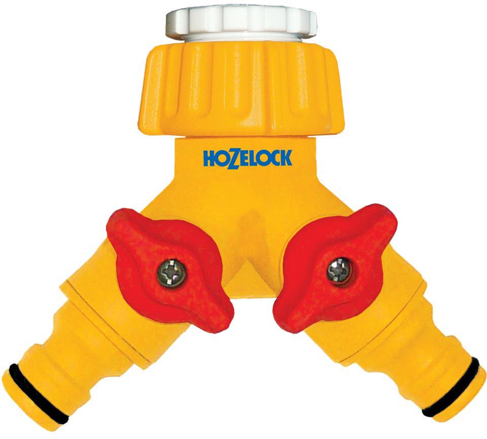 Коннектор HoZelock, для крана двойной 1/2-3/4, 12,5 мм и 19 мм муфта для шланга green apple есо соединительная 19 мм 3 4