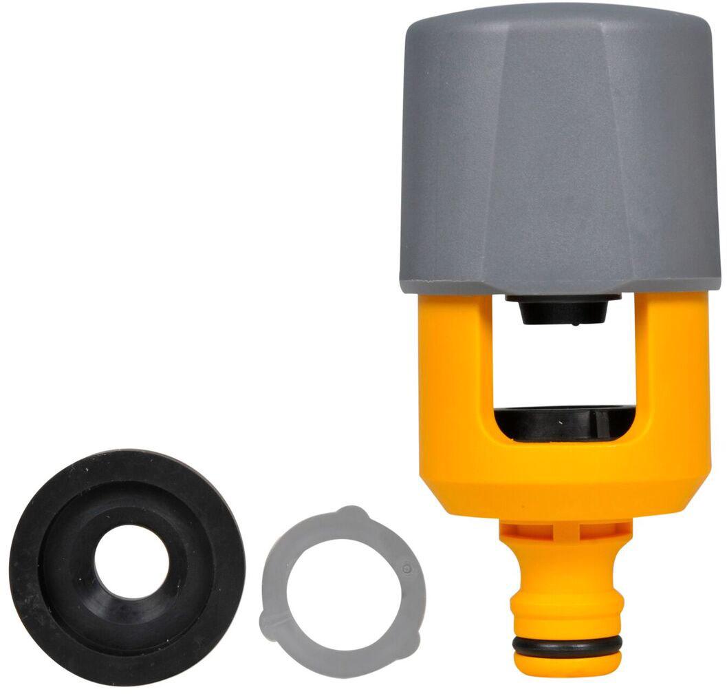 Коннектор HoZelock  для крана-смесителя предназначен для подсоединения шланга к домашнему смесителю.  Подходит на квадратные, круглые краны и краны смешанного типа до 43 мм высотой и до 34 мм шириной. В комплект входят разнообразные уплотнительные шайбы для герметичного крепления коннектора к крану.  Изготовлен из высококачественного пластика для максимальной прочности.  Быстро и легко устанавливается.