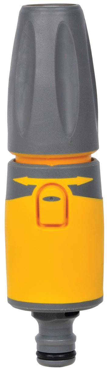 Наконечник для шланга HoZelock 2294 Plus  Простой и многофункциональный аксессуар для поливочных и моечных работ в саду. Идеально подходит для полива небольших участков Вашего сада и для смыва мыльной пены с автомобиля. Три режима подачи воды: мощная струя для очистки, конусная струя для мягкого полива, быстрый поток (для наполнения водой различных емкостей – леек и ведер). Подача воды включается с помощью удобной кнопки на корпусе Наконечника, а поворот головки меняет режим подачи воды. Изготовлен из высококачественных материалов для максимальной прочности.