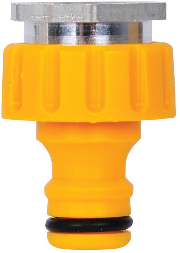Коннектор HoZelock 2304 для крана с аэраторной насадкой в помещениях, резьбовой. Внутрення резьба М22 (22 мм)  • Идеально подходит в случаях, когда у Вас нет наружного крана • Легко и надежно присоединяется к Вашему кухонному крану или крану в ванной комнате Открутите аэратор от Вашего крана и прикрутите на его место Коннектор HoZelock 2304 с аэраторной насадкой. Вы можете присоединять пластиковую часть коннектора, когда Вам будет необходимо подключить шланг, в остальное время аэраторная насадка может оставаться на Вашем кране отдельно.