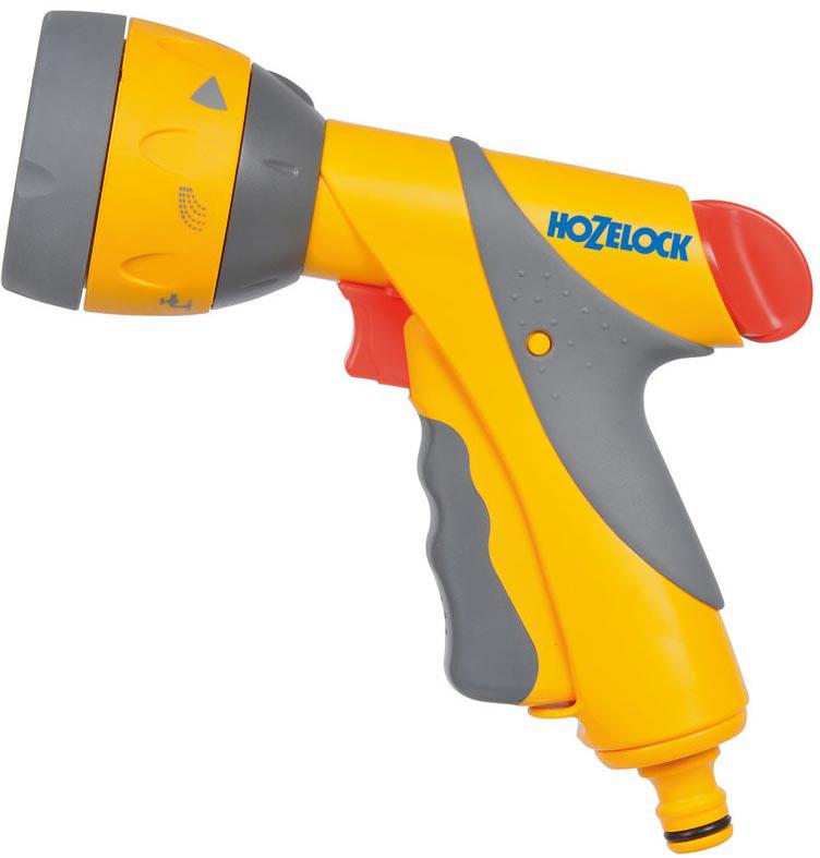 Пистолет-распылитель HoZelock Multi Spray Plus2684Пистолет-распылитель HoZelock Multi Spray Plus предназначен не только для полива, но иочистки загрязненных поверхностей.Шесть типов распыления: мощная струя для очистки; веер для смыва мыльной пены савтомобиля; быстрый поток (для наполнения водой различных емкостей – леек и ведер); тумандля бережного полива саженцев; душ, обеспечивающий точный полив граничных участков,горшков и кашпо, не разрушающий растения; конусная струя для мягкого полива. Два положения блокировки курка – на 100% и 40% потока, чтобы минимизировать нагрузку на руку.Курок максимально комфортной формы изготовлен из пластика, мягкого на ощупь. Плавноенажатие на курок способствует постепенной подаче воды от 0% до 100%. Пистолетдополнительно оборудован поворотным регулятором, который позволяет регулировать поток от50% до 100% во время того, как курок находится в зафиксированном положении.