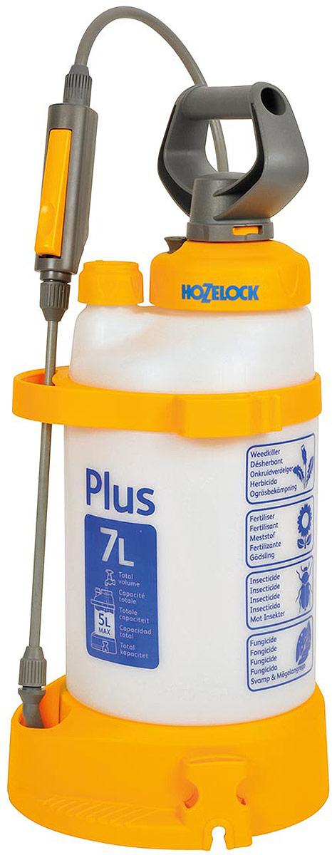 Опрыскиватель HoZelock Plus, 7 л4707Опрыскиватель HoZelock 4707 Plus 7 л многофункциональный и эффективный опрыскиватель для обработки садовых растений инсектицидами, пестицидами, фунгицидами и водорастворимыми удобрениями. Максимальный уровень заполнения – 5 литров (для обеспечения достаточного воздушного пространства в емкости для сжатия под давлением). Коническое сопло с регулировкой подачи раствора от струи до мелкодисперсного распыления («облако»). Встроенный клапан выпуска давления позволяет сбросить избыточное давление, чтобы безопасно снять крышку для залива препарата, а также не перекачать распылитель.Инновационная технология Last Drop – позволяет использовать раствор без остатка, до последней капли.Полупрозрачная емкость с делениями для точного дозирования препарата. Широкая эргономичная рукоятка и платформа для упора ног облегчают накачивание распылителя.Широкая заправочная горловина облегчает залив раствора, а также позволяет хранить внутри распылителя его компоненты.Дозатор с уникальным индикатором раствора позволяет Вам установить, какой препарат Вы используете (фунгицид, гербицид, инсектицид или удобрение), чтобы избавить от необходимости запоминать, что Вы заливали последним. Высокопрочная насадка-копье из стекловолокна. Фиксация потока для продолжительного распыления.Специальная ременная оснастка позволяет выбирать наиболее удобный способ ношения распылителя: на плече, через плечо, а также на спине.
