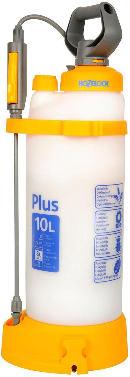 Опрыскиватель HoZelock 4710 Plus 10 л многофункциональный и эффективный опрыскиватель для обработки садовых растений инсектицидами, пестицидами, фунгицидами и водорастворимыми удобрениями. Максимальный уровень заполнения – 8 литров (для обеспечения достаточного воздушного пространства в емкости для сжатия под давлением). Коническое сопло с регулировкой подачи раствора от струи до мелкодисперсного распыления («облако»). Встроенный клапан выпуска давления позволяет сбросить избыточное давление, чтобы безопасно снять крышку для залива препарата, а также не перекачать распылитель.  Инновационная технология Last Drop – позволяет использовать раствор без остатка, до последней капли.  Полупрозрачная емкость с делениями для точного дозирования препарата. Широкая эргономичная рукоятка и платформа для упора ног облегчают накачивание распылителя.  Широкая заправочная горловина облегчает залив раствора, а также позволяет хранить внутри распылителя его компоненты.  Дозатор с уникальным индикатором раствора позволяет Вам установить, какой препарат Вы используете (фунгицид, гербицид, инсектицид или удобрение), чтобы избавить от необходимости запоминать, что Вы заливали последним. Высокопрочная насадка-копье из стекловолокна. Фиксация потока для продолжительного распыления.  Специальная ременная оснастка позволяет выбирать наиболее удобный способ ношения распылителя: на плече, через плечо, а также на спине.