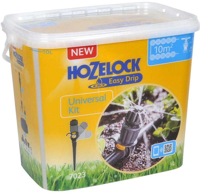 Комплект автополива HoZelock 7023 с универсальными разбрызгивателями. В комплект входит: 1 Регулятор давления HoZelock 7022, 15 метров Шланг Flexi Hose HoZelock (7021), 10 шт Капельница Универсальная HoZelock, 5шт Клипса-заглушка HoZelock, 2 шт Заглушка концевая HoZelock, 1 шт Коннектор прямой HoZelock, 1 шт Коннектор Т-образный HoZelock Набор со всеми необходимыми элементами для сбора индивидуальной системы полива на Вашем участке.