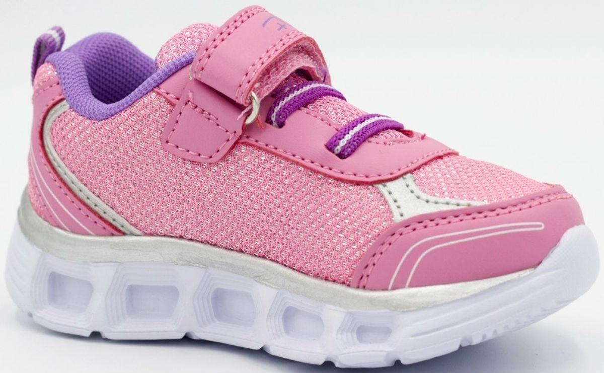 Кроссовки для девочки Flois-Kids, цвет: розовый. FL-BQ8867 PBT (6). Размер 22FL-BQ8867 PBT (6)Стильные кроссовки от Flois-Kids покорят вашу девочку с первого взгляда. Модель, выполненная из текстиля и искусственной кожи, оформлена вышивкой, декоративной нашивкой и на ремешке логотипом бренда. Эластичная шнуровка и ремешок с липучкой обеспечивают надежную фиксацию обуви на ноге. Подкладка и стелька из текстиля гарантируют комфорт при движении. Прочная подошва с рельефным рисунком обеспечивает сцепление с любой поверхностью. Такие кроссовки займут достойное место в гардеробе вашего ребенка.