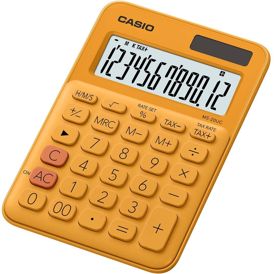 Casio калькулятор настольный MS-20UC-RG-S-EC цвет оранжевый