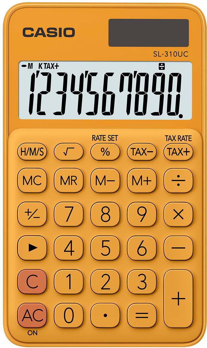Casio калькулятор карманный SL-310UC-RG-S-EC цвет оранжевый