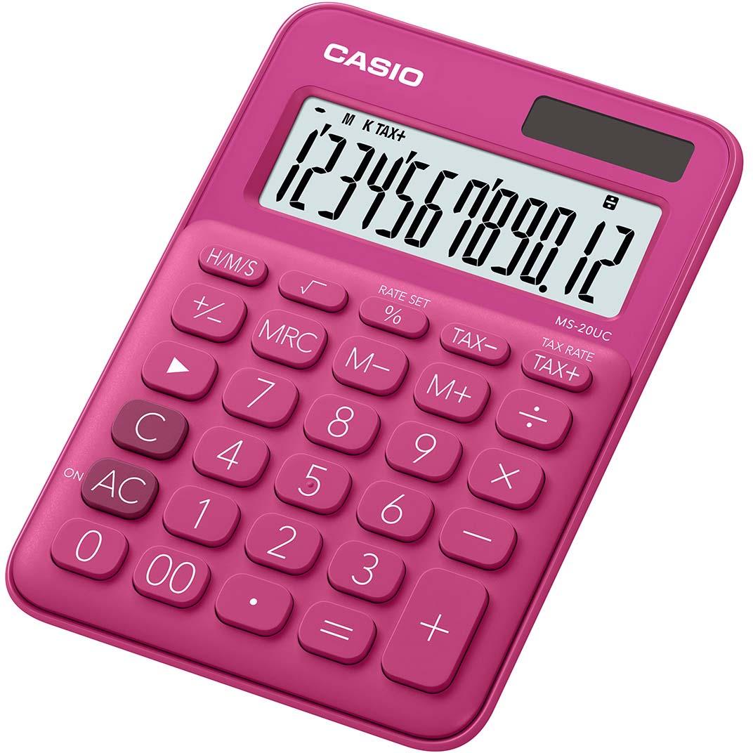 Casio калькулятор настольный MS-20UC-RD-S-EC цвет красный