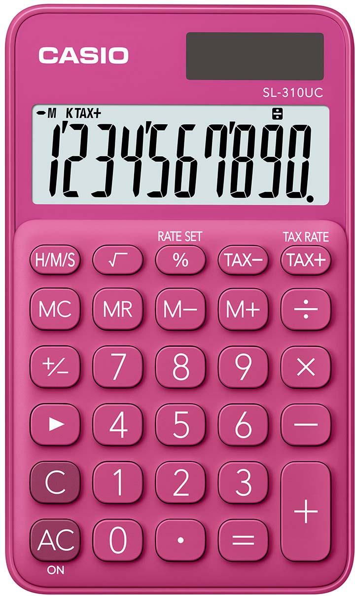 Casio калькулятор карманный SL-310UC-RD-S-EC цвет красный