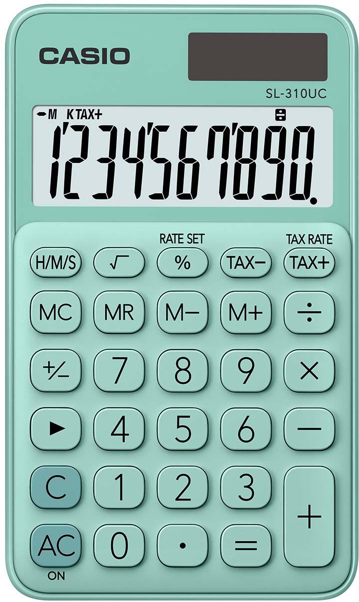 Casio калькулятор карманный SL-310UC-GN-S-EC цвет зеленый