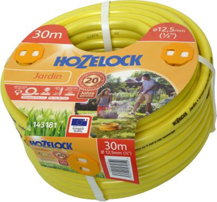 Шланг HoZelock Jardin, 12,5 мм 30 м143181Шланг HoZelock 143181 Jardin 12,5 мм 30 м• Усиленная защита от повреждений, перегибов и перекручиванияПрочный, гладкий Шланг, состоящий из 5-ти слоев, прекрасно подойдет тем, кто больше всего ценит в Шлангах надежность и износостойкость. Гладкий внутренний слой обеспечивает максимальный ток воды. Однородный микропористый слой из ПВХ по технологии Soft&Flex придает прочность стенкам Шланга, облегчает вес (до 25% легче, чем у конкурентов) и улучшает маневренность. Удобен в эксплуатации-легко сматывается в катушки и системы хранения. Специальное армированное плетение по технологии TNT предотвращает деформацию Шланга при скручивании; внешний слой из ПВХ защищает от повреждений. Яркий желтый цвет позволяет Вам без труда увидеть Шланг на Вашем участке. Материалы, из которых состоит Шланг, являются безопасными для человека и окружающей среды-не содержат фталатов, тяжелых металлов и вредных токсинов.