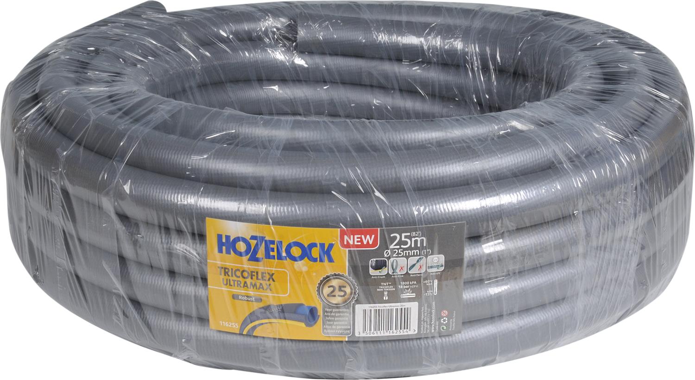 Шланг HoZelock 116255 Tricoflex Ultramax 25 мм 25 м • Усиленная защита от повреждений, перегибов и перекручиванияПрочный Шланг, состоящий из 5-ти слоев, прекрасно подойдет тем, кто больше всего ценит в Шлангах надежность и износостойкость. Гладкий внутренний слой обеспечивает максимальный ток воды. Однородный микропористый слой из ПВХ по технологии Soft&Flex придает прочность стенкам Шланга, облегчает вес (до 25% легче, чем у конкурентов) и улучшает маневренность. Удобен в эксплуатации-легко сматывается в катушки и системы хранения. Специальное армированное плетение по технологии TNT предотвращает деформацию Шланга при скручивании; внешний слой из ПВХ защищает от повреждений, изготовлен по технологии Ergo Rib, благодаря которой Шланг комфортно держать в руке. Материалы, из которых состоит Шланг, являются безопасными для человека и окружающей среды-не содержат фталатов, тяжелых металлов и вредных токсинов.