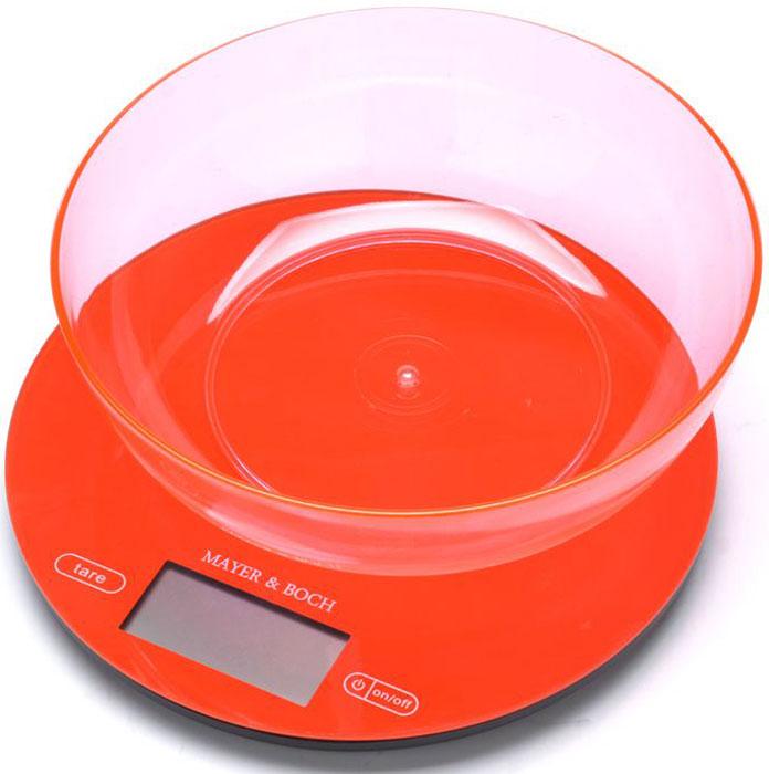 Mayer & Boch MB-10958-1 кухонные весы60959Кухонные весы Mayer & Boch пригодятся на любой кухне и станут прекрасным дополнением к набору вашей мелкой бытовой техники. Используя их, вы сможете готовить блюда, точно следуя предложенной рецептуре, что немаловажно при приготовлении сложных блюд, соусов и выпечки. Весы электронные, оснащены цифровым LCD-дисплеем, функцией автоматического отключения, функцией тарокомпенсации, мощным процессором и тензометрическим датчиком высокой прочности. Оформленные в зеленом цвете и с оригинальным дизайном такие весы украсят любую кухню и принесут радость каждой хозяйке.