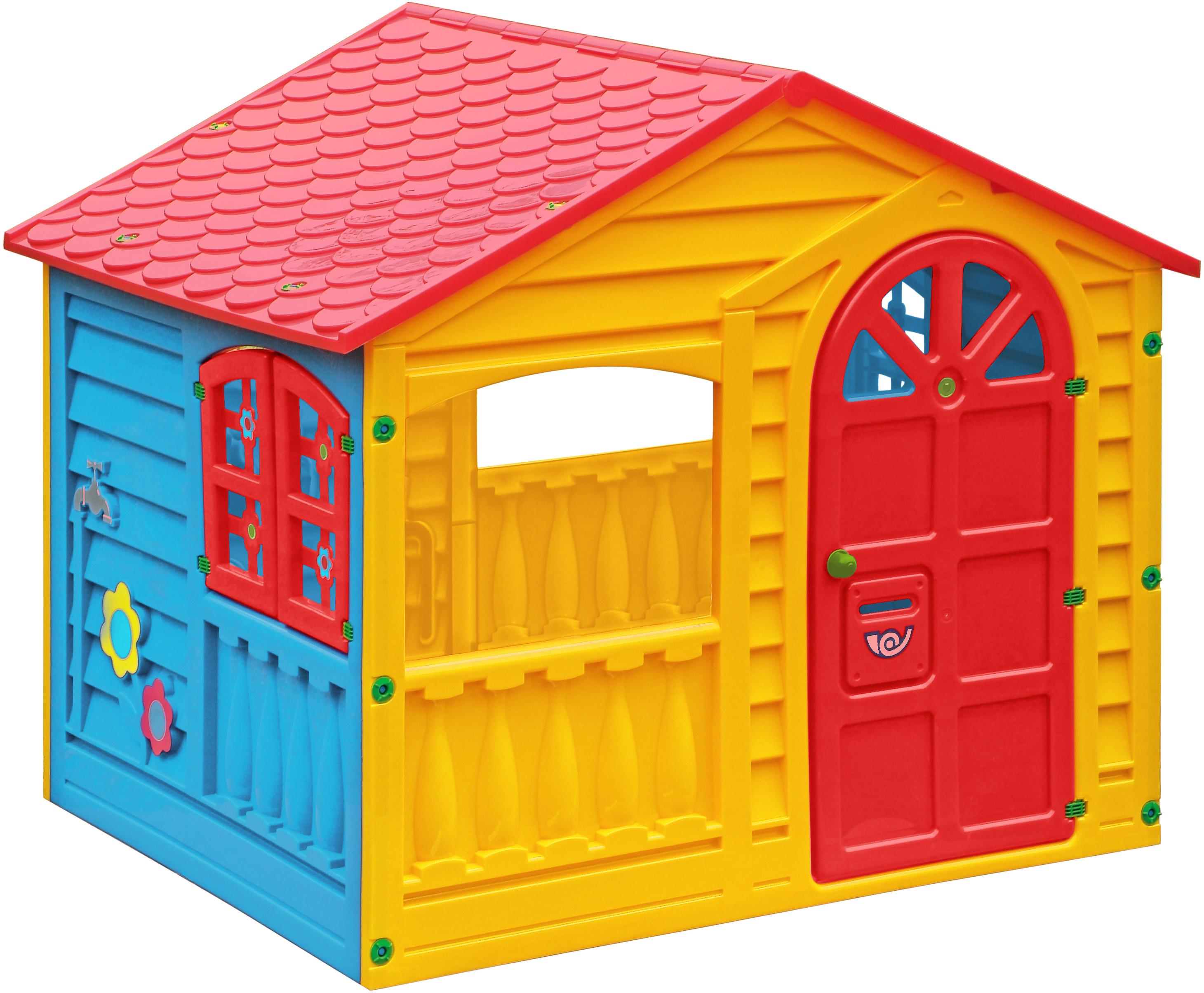 Игровой домик PicnMix цвет красный желтый голубой игровые домики edu play игровой домик grand