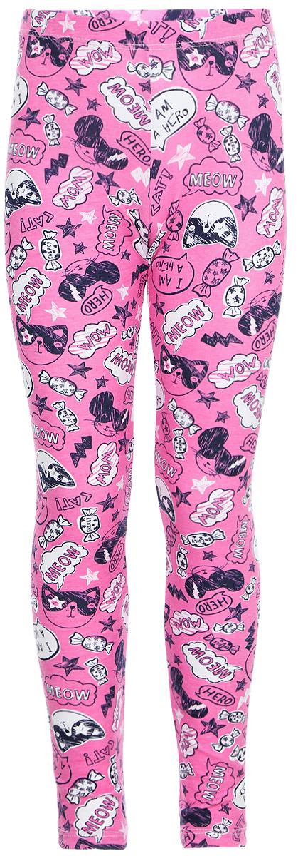 Леггинсы для девочки Sela, цвет: розовый. PLG-515/514-8121. Размер 110