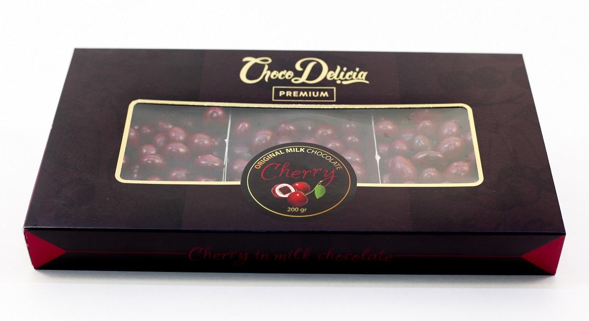 Choco Delicia Драже вишня с шоколадом, 200 г barkleys chocolate mint драже шоколад мята 50 г